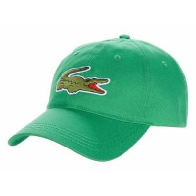 ラコステ メンズ 帽子 アクセサリー Big Croc Twill Leatherstrap Cap Chervil