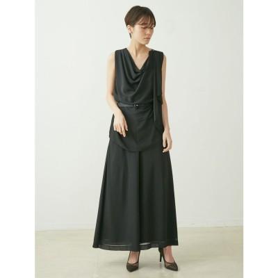 LAGUNAMOON LADYエアリーセットアップパンツドレス(ブラック)
