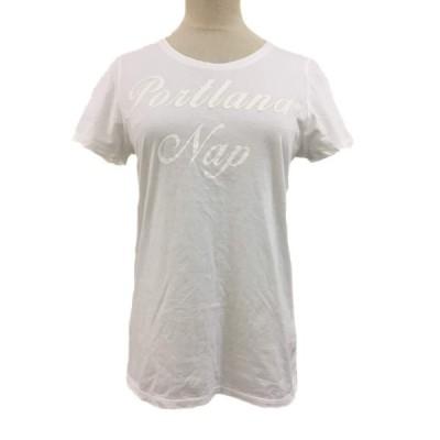 【中古】ガリャルダガランテ GALLARDAGALANTE Tシャツ クルーネック プリント 半袖 F 白 ホワイト レディース 【ベクトル 古着】