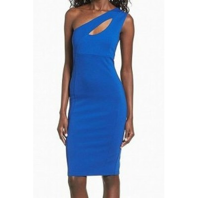 FELICITY & COCO フェリシティアンドコー ファッション ドレス Felicity & Coco NEW Blue Women Large PL Petite Cut Out Sheath Dress