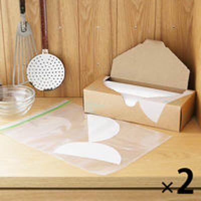 アスクルフリーザーバッグ(マチ無し 冷蔵 冷凍対応) L A4サイズがピッタリ入る 1セット(30枚入×2箱) ロハコ(LOHACO) オリジナル