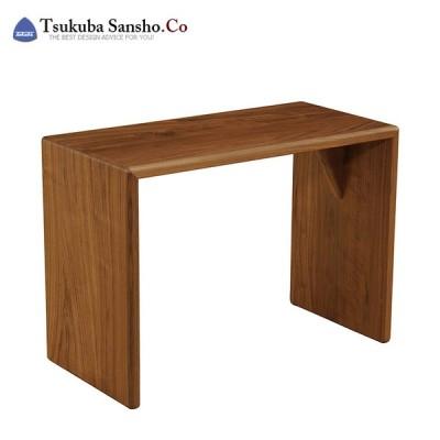 筑波産商 ラムザ オケイジョナルテーブル ウォールナット ソファ ベッドサイド ソファサイド コの字テーブル 代引不可