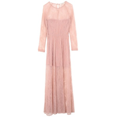 コンタット KONTATTO ロングワンピース&ドレス ピンク XS ナイロン 100% ロングワンピース&ドレス