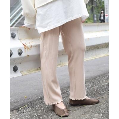 w closet / 針抜き起毛リブメローパンツ WOMEN パンツ > パンツ