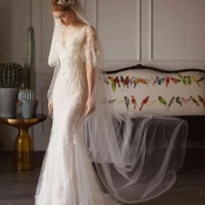 ウェディングドレス マーメイドライン パーティドレス 白 ホワイト 二次会 結婚式 司会者 披露宴 花嫁 マーメイドドレス ロングドレス結