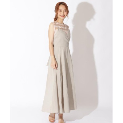 【アンドクチュール】 バックリボンキャミワンピース レディース ベージュ M And Couture