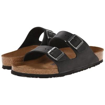 ビルケンシュトック サンダル レディース Arizona Soft Footbed - Leather (Unisex) Black Oiled Leather