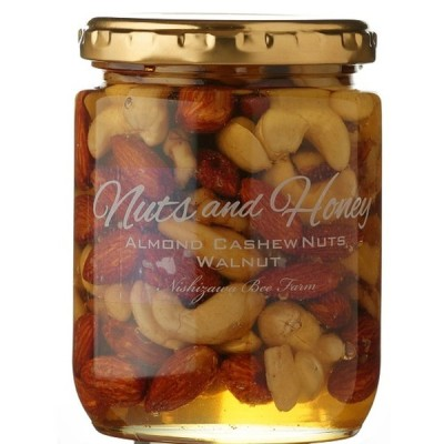宮崎 蜂蜜 はちみつ ハニー 美容 健康  [西澤養蜂場] ナッツ&ハニー 贅沢なナッツのはちみつ漬け 280g