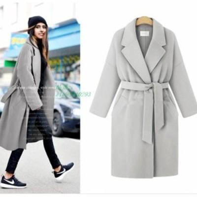 冬 上着 4XL グループ 2020 女性 コート 基本的な ジャケット サイズ ブレンド女性 ロング ウール ルーズ ベルト ヨーロッパスタイルプラ
