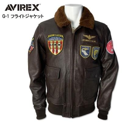 AVIREX アビレックス ゴート G-1 ジャケット  G-1 JACKET CVA-41 レザージャケット  ミリタリージャケット ブラウン 6191071 55 メンズ アウター
