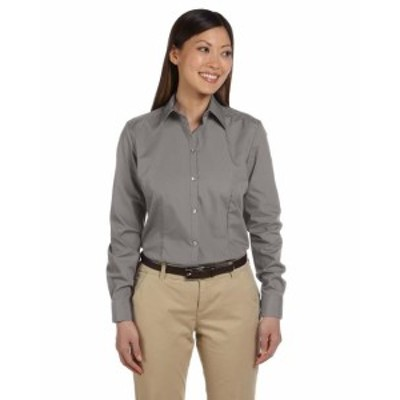 ファッション トップス Van Heusen Womens Long-Sleeve Silky Poplin 13V0114 S-2XL