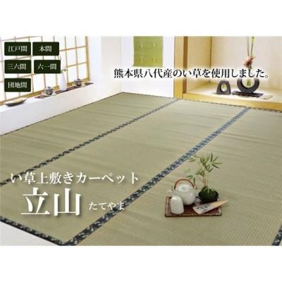 純国産 い草 上敷き カーペット 糸引織 江戸間1畳(約88×176cm) 熊本県八代産イ草使用
