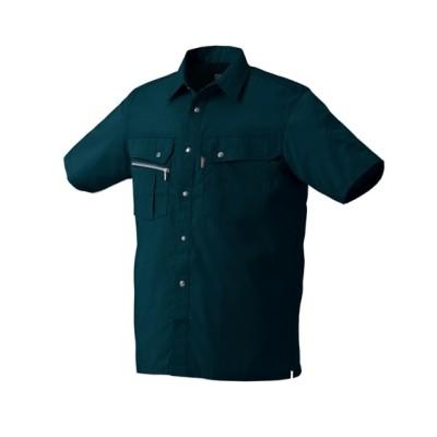 KURODARUMA 26493 抗菌防臭脇スリット半袖シャツ 作業服