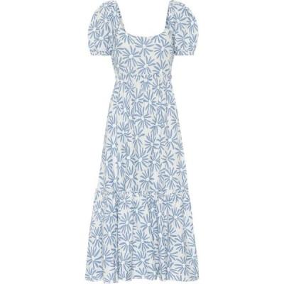 ラルフ ローレン Polo Ralph Lauren レディース ワンピース ミドル丈 ワンピース・ドレス Kai floral linen midi dress Blue Daisy Floral