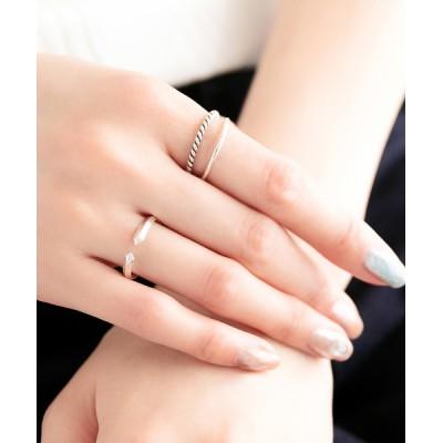 指輪 【SV925】スタイリッシュカフピンキーリング