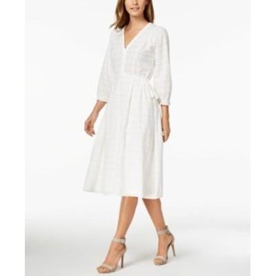 Calvin Klein カルバンクライン ファッション ドレス Calvin Klein Womens Dress White Size 2 Sheath Boho Eyelet V-Neck