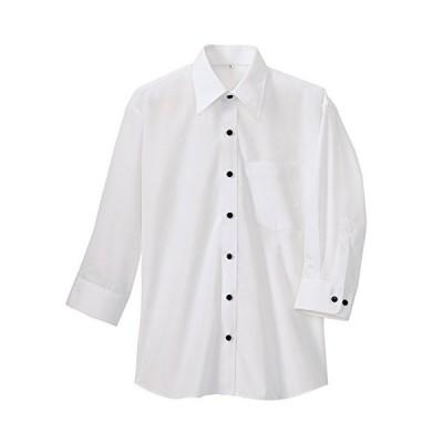 アイトス AITOZ 七分袖シャツ(春夏用)(男女兼用) AZ-8022-001ホワイト LLサイズ