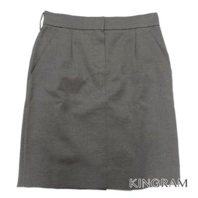 ルイ・ヴィトン ウール混 スカート 03-3478-2100 グレー 綿50% ウール45% ナイロン5% レディース スカート rsa【中古】
