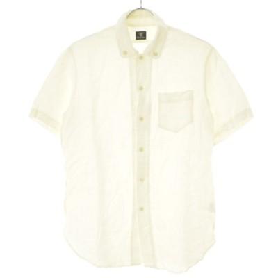 Django Atour / ジャンコアトゥール ラウンドカラーボタンダウンリネン 半袖シャツ