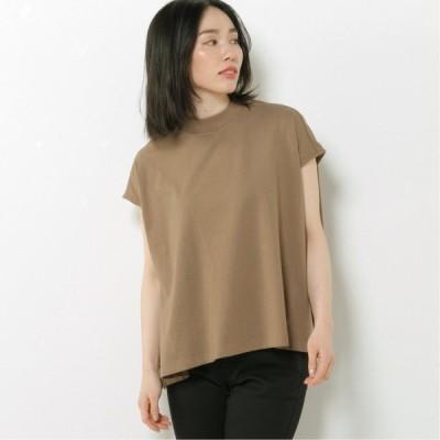 フレンチスリーブワイドTシャツ キャメル M L