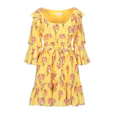 BORGO DE NOR ミニワンピース&ドレス イエロー 8 ポリエステル 100% ミニワンピース&ドレス