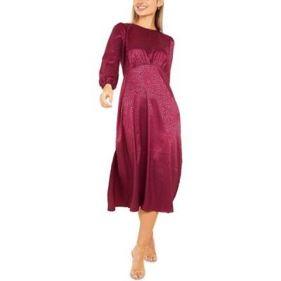 クイズ QUIZ レディース ワンピース ミドル丈 ワンピース・ドレス Side-Slit Midi Dress Purple