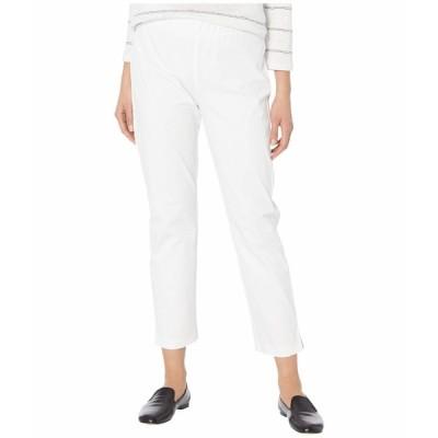 エイリーンフィッシャー カジュアルパンツ ボトムス レディース Mid-Rise Ankle Pants w/ Slits White