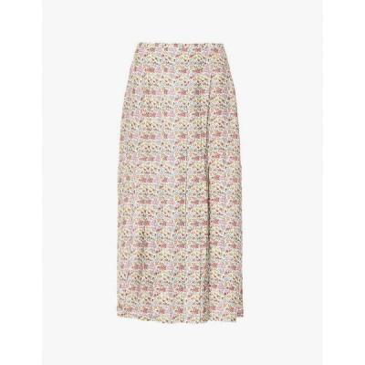 リキソ RIXO レディース ひざ丈スカート スカート Georgia floral-print silk midi skirt Driving Miss Daisy