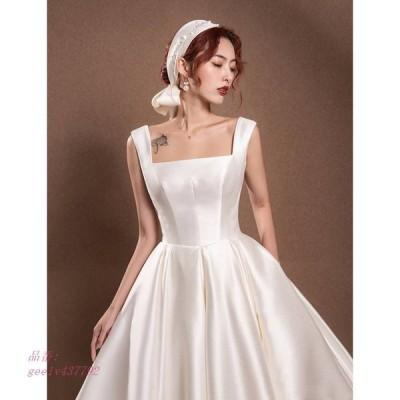ウェディングドレス 白 フォーマルドレス ウエディングドレス エレホルターネック パーティー 花嫁ロングドレス 挙式 ワンピース 二次会 結婚式