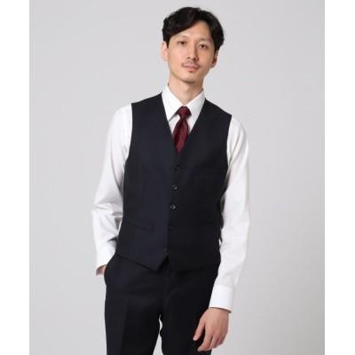 【タケオキクチ】 シャドーオルタネイトストライプ ベスト メンズ ダークネイビー 01(S) TAKEO KIKUCHI