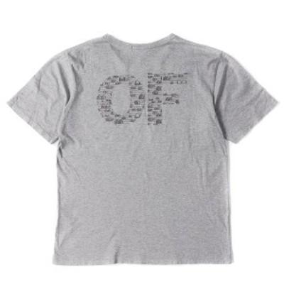 Original Fake (オリジナルフェイク) KAWS キャラクター刺繍OFロゴポケットTシャツ グレー 4(XL) 【メンズ】【中古】【美品】【K2374】