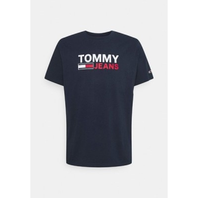 トミーヒルフィガー Tシャツ メンズ トップス CORP LOGO TEE - Print T-shirt - twilight navy