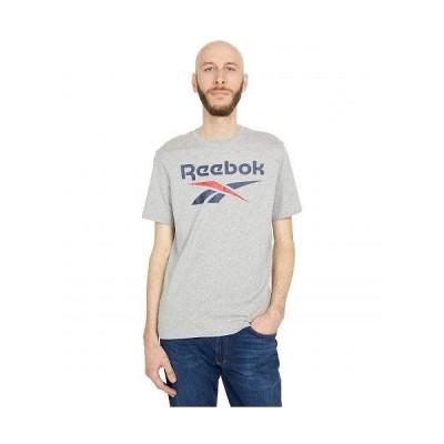 Reebok リーボック メンズ 男性用 ファッション Tシャツ Training Essentials Graphic Tee - Medium Grey Heather/Vector Navy