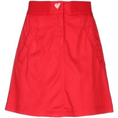 ラブ モスキーノ LOVE MOSCHINO ひざ丈スカート レッド 40 テンセル 63% / コットン 34% / ポリウレタン 3% ひざ丈ス