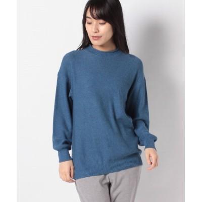 (Leilian/レリアン)ロールネックセーター/レディース ブルー系