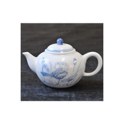 台湾茶器 三希製 蓮手書 茶壷(3876)