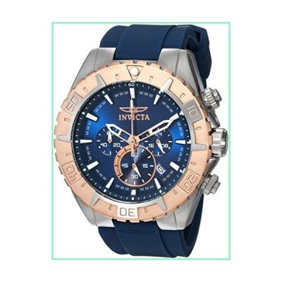 Invicta Men's 'Aviator' Quartz Stainless Steel and Silicone Casual Watch%カンマ% Color:Blue (Model: 22523)【並行輸入品】