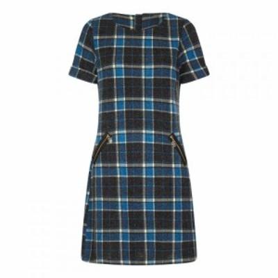 ユミ Yumi レディース ワンピース ワンピース・ドレス Relaxed Check Dress Blue