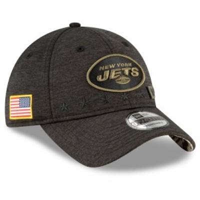 """ニューエラ メンズ キャップ """"New York Jets"""" New Era 2020 Salute to Service 9TWENTY Adjustable Hat - Heather Black"""