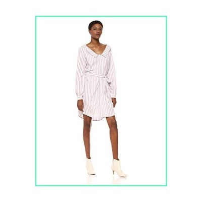 cupcakes and cashmere Women's Daylily Yarn Dyed Rayon Stripe Shirt Dress, Parchment, Large並行輸入品