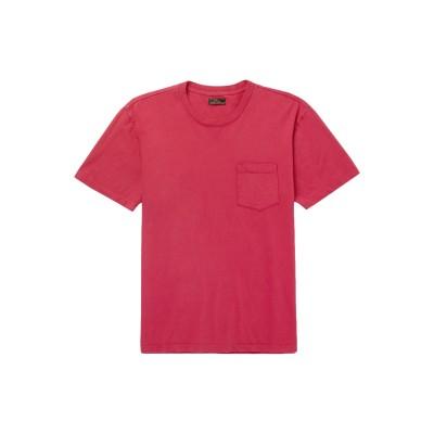 F.S.C. FREEMANS SPORTING CLUB T シャツ レッド L コットン 100% T シャツ