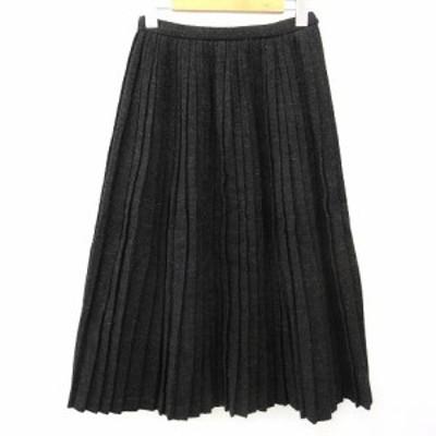 【中古】コムデギャルソン ヴィンテージ 90s スカート ロング マキシ プリーツ 無地 ウール 実寸Sサイズ相当 ウエスト59cm 黒 ブラック