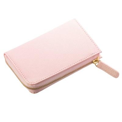 (コラーレ) corale 財布 コンパクト レディース コインケース 小銭入れ プリズムレザー カードケース 本革の小さいお財布 L字ファスナー 12colors (サクラピンク