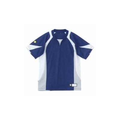 デサント ジュニア ベースボールシャツ(NVWH・サイズ:140) DESCENTE JUNIOR BASEBALL SHIRT プロモデル DS-JDB113-NVWH-140 【返品種別A】