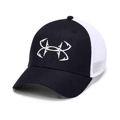 平行輸入品 [アンダーアーマー] 帽子 Men's UA Fish Hook Cap ベンチレーション ストレッチフィット (ブラック, L)