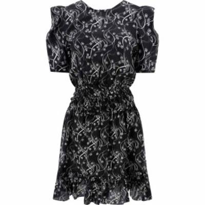 ケンゾー Kenzo レディース ワンピース ワンピース・ドレス Urchin Waves Silk Dress Black