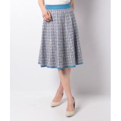 (ELISA/エリザ) 【セットアップ対応商品】ニットツィードスカート/レディース ブルー