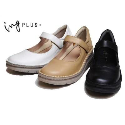 イングプラス ing PLUS + IPSQ02304 4E 厚底ストラップシューズ レディース 靴