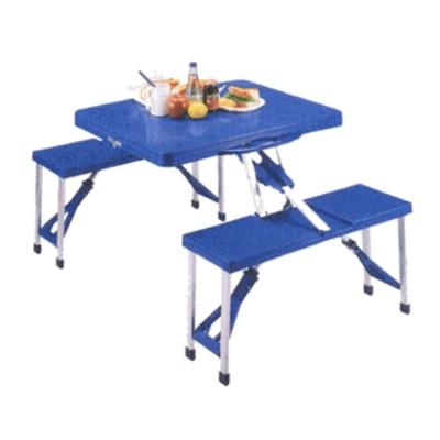 アルミピクニックテーブル ブルー (AP00987/M-8421)【分類: テーブル 防災用品 】 (キャプテンスタッグ)【QBI35】