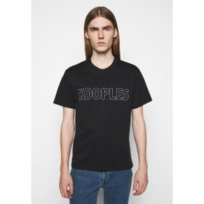 ザ・クープルス メンズ Tシャツ トップス Print T-shirt - black black